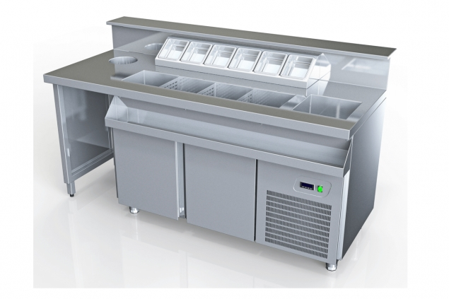 REFRIGERATED BAR STATIONS