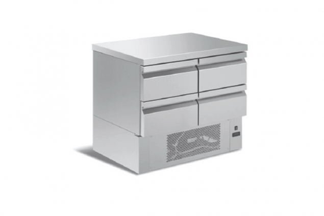FISH COOLING COUNTERS WITH DRAWERS